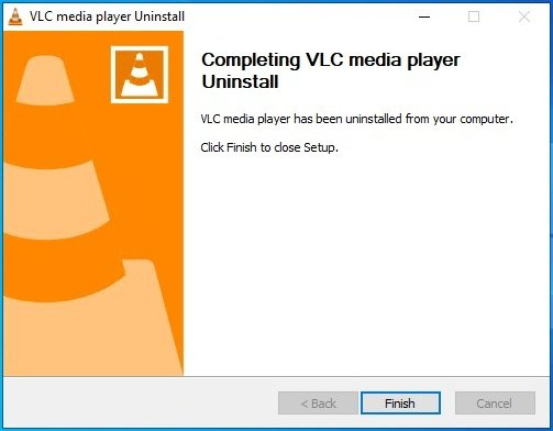 VLC fully uninstalled from Windows