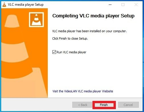 VLC installed and ready to be used