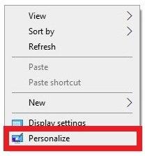 Opzioni di personalizzazione dello sfondo