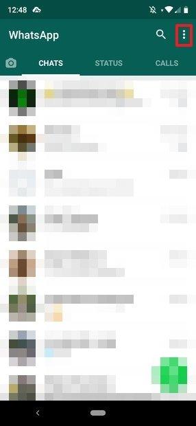 WhatsApp's chat screen