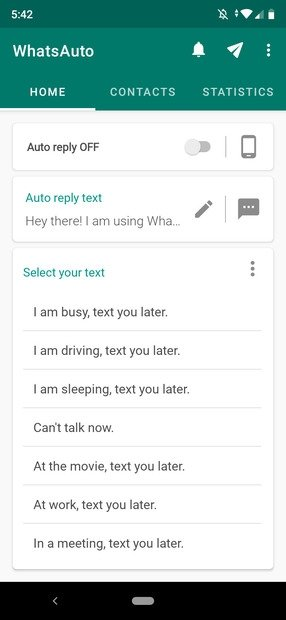 WhatsAuto's main interface