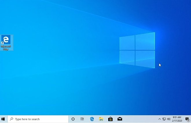Windows 10 installed and ready to be used
