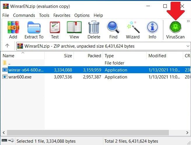 Antivirus de WinRAR