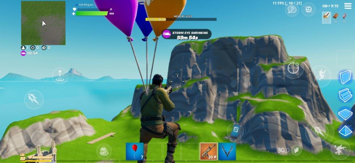 Con tres globos volaremos hasta que explote uno de ellos