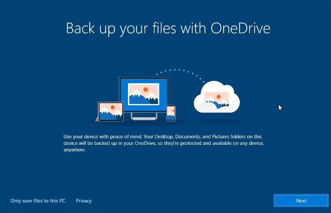 You can create backups on OneDrive