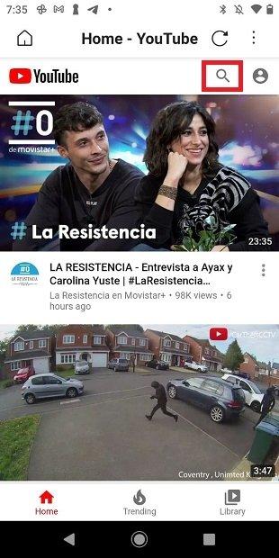 Buscador de YouTube