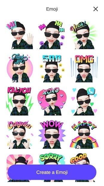 Zepeto's emojis