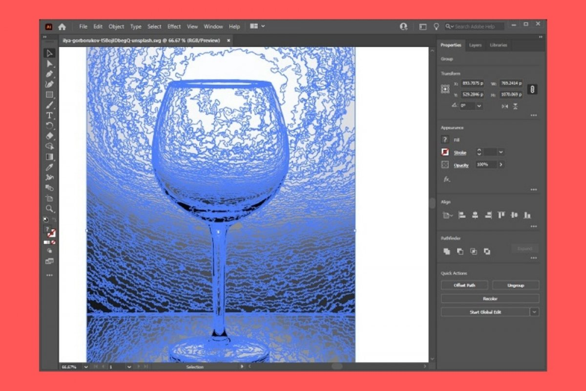 How to vectorize an image with Illustrator