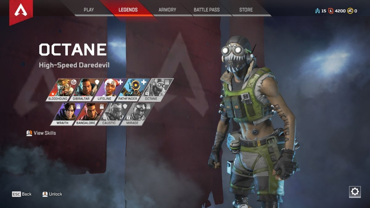 How to unlock and how to play with Octane in Apex Legends
