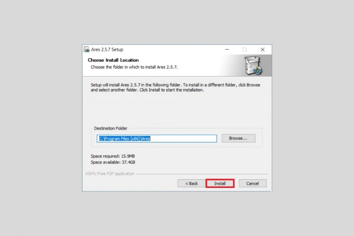 How to install Ares and configure it to download faster