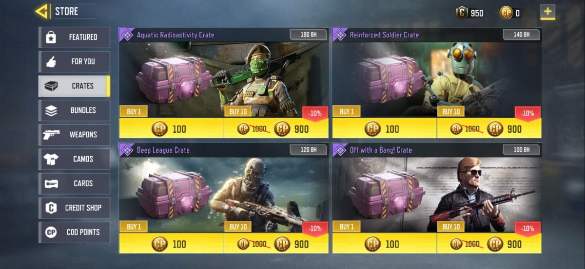 COD Mobile boxes: types and loots
