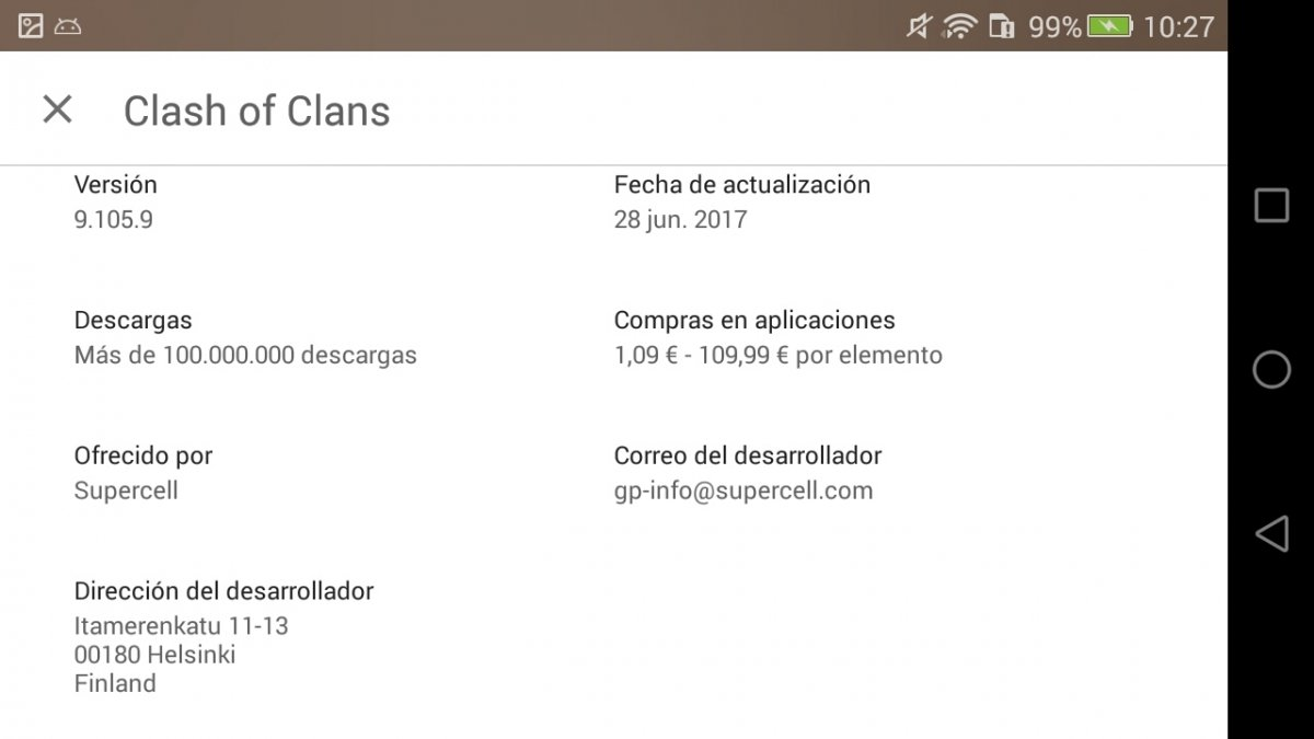 Por qué Clash of Clans no es compatible con mi dispositivo
