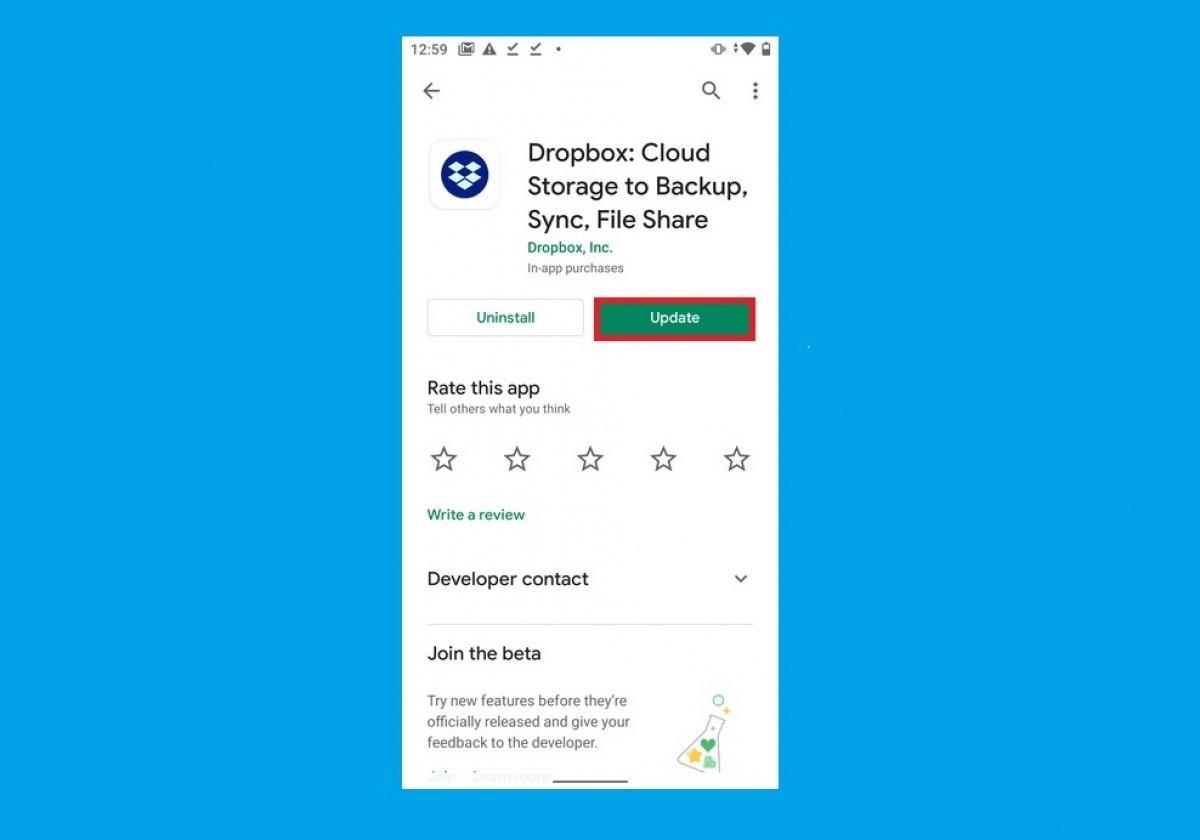 Cómo actualizar Dropbox