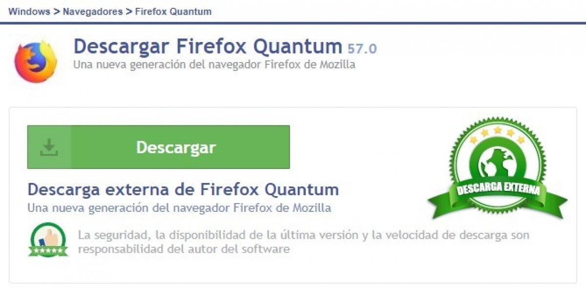 Cómo descargar Firefox Quantum