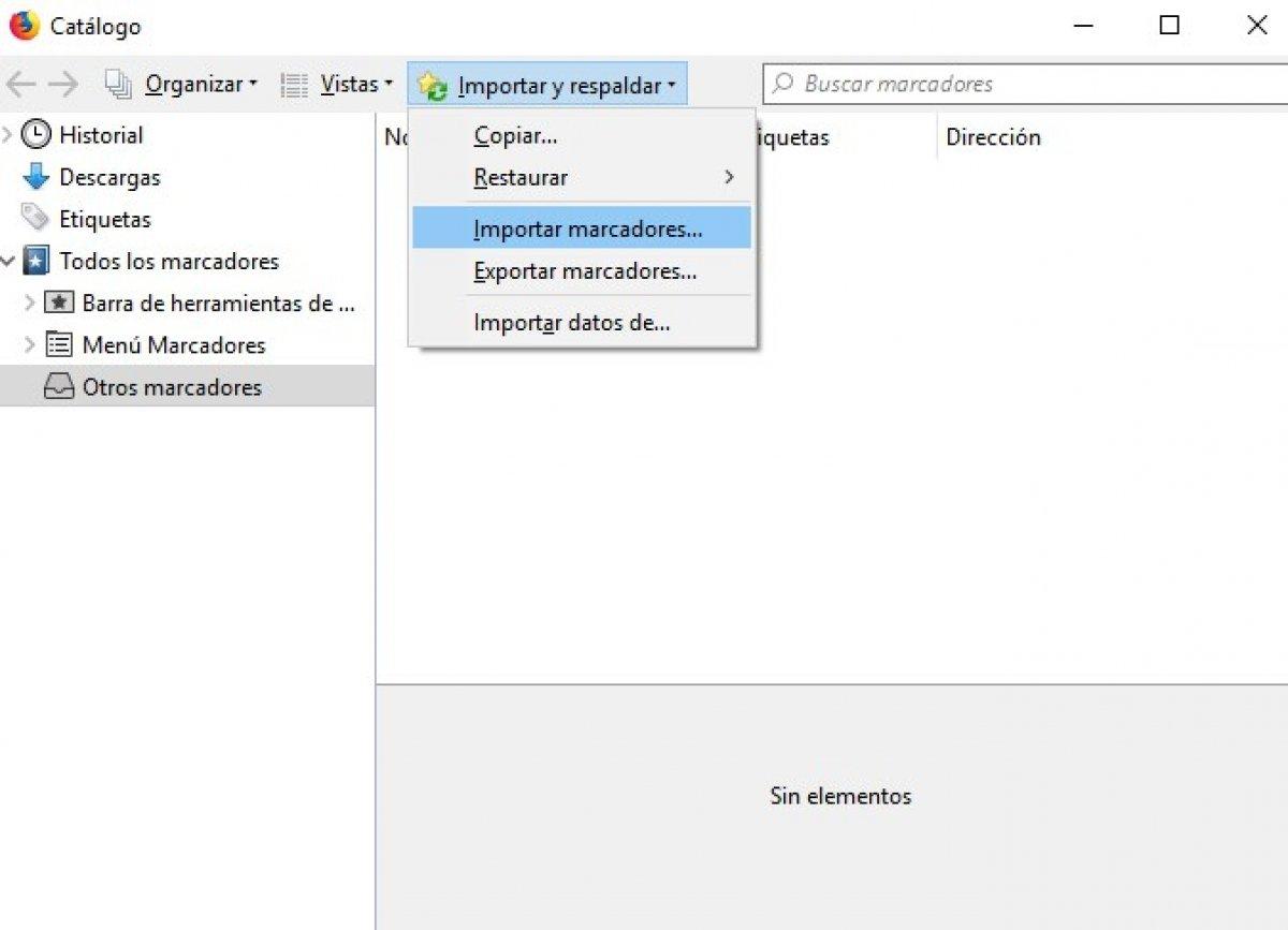 Cómo importar a Firefox Quantum marcadores de Opera