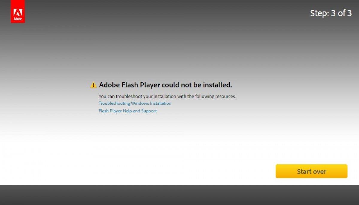 No puedo instalar Adobe Flash Player