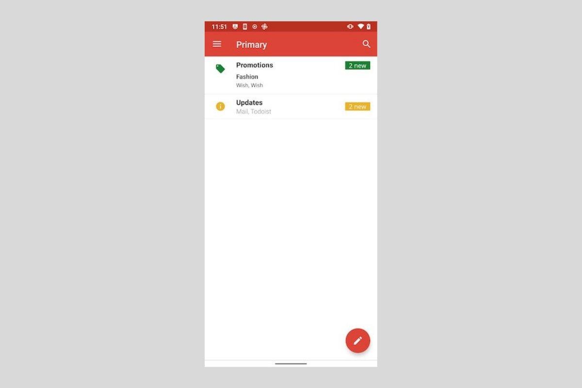 Cómo cambiar al diseño antiguo de Gmail desde Android