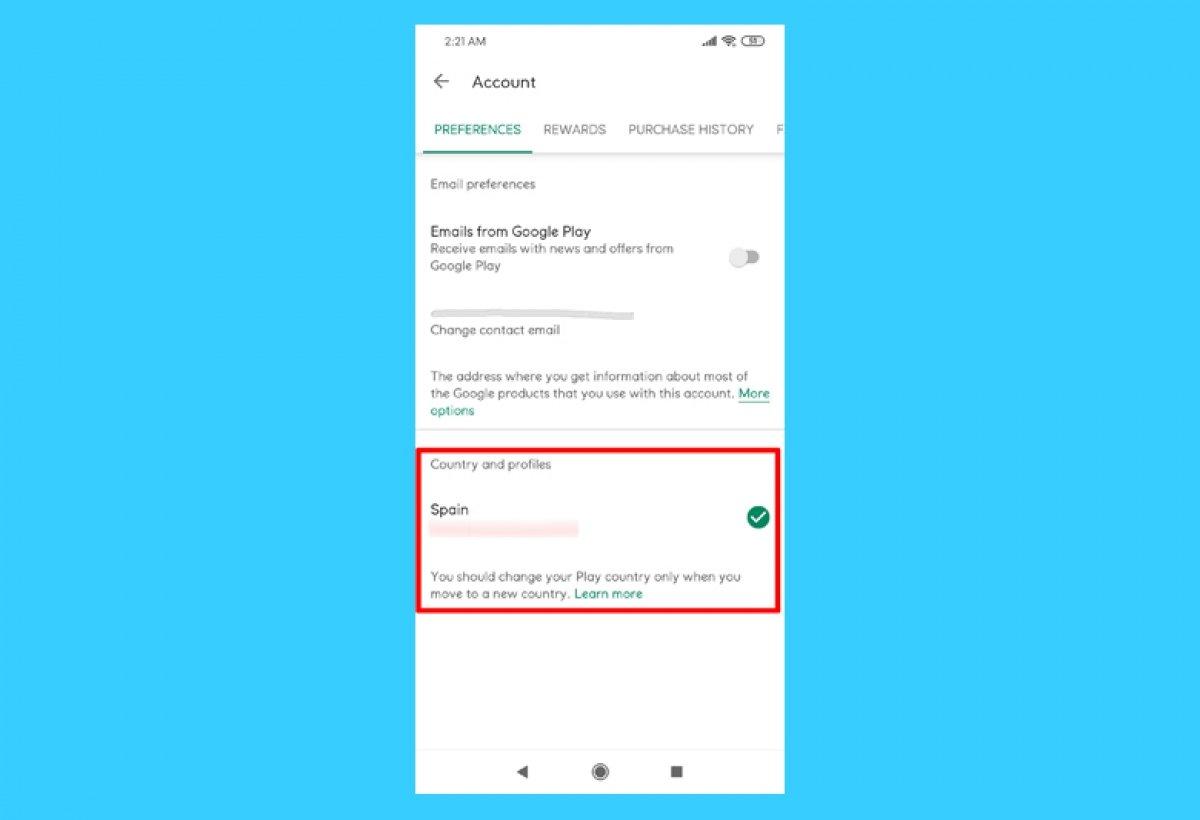Como mudar o país no Google Play