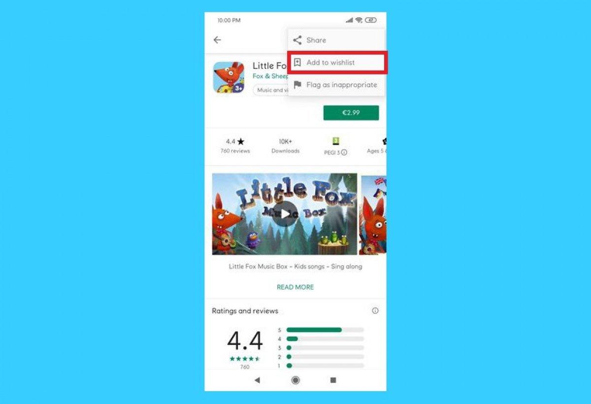 Come aggiungere un'app alla lista dei desideri di Google Play