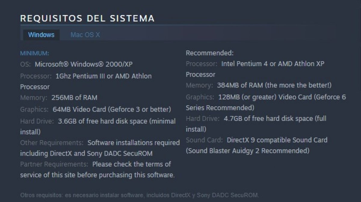 GTA San Andreas system requirements