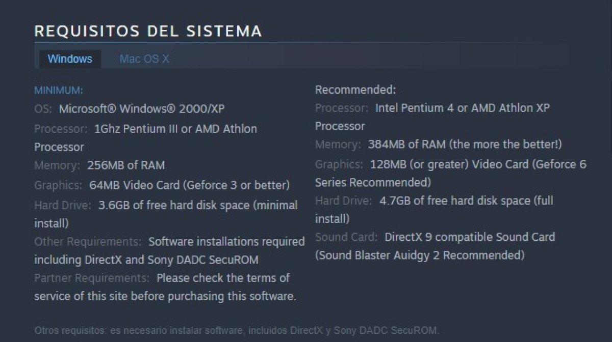 Requisitos de sistema de GTA San Andreas
