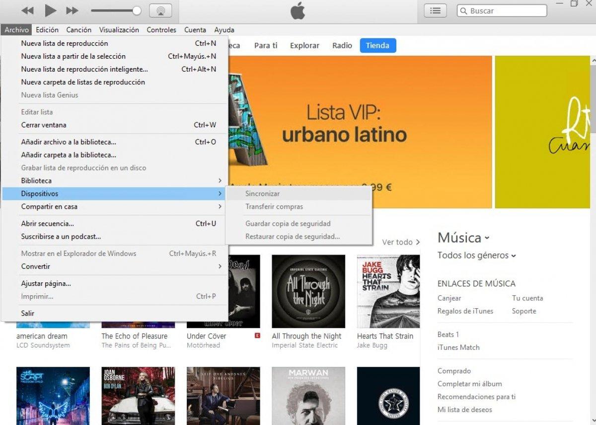 Cómo sincronizar un iPhone con iTunes
