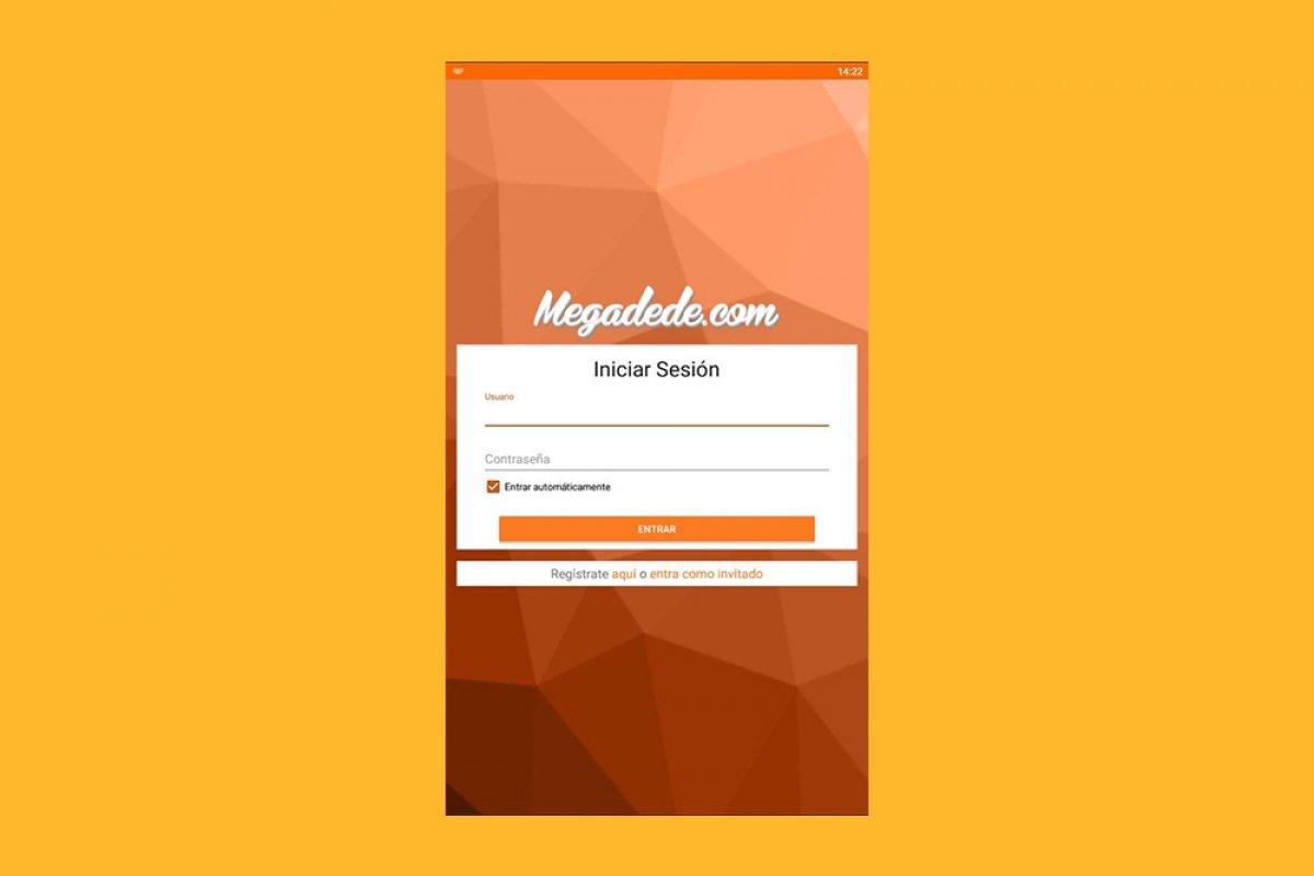 Cómo entrar o registrarse en Megadede