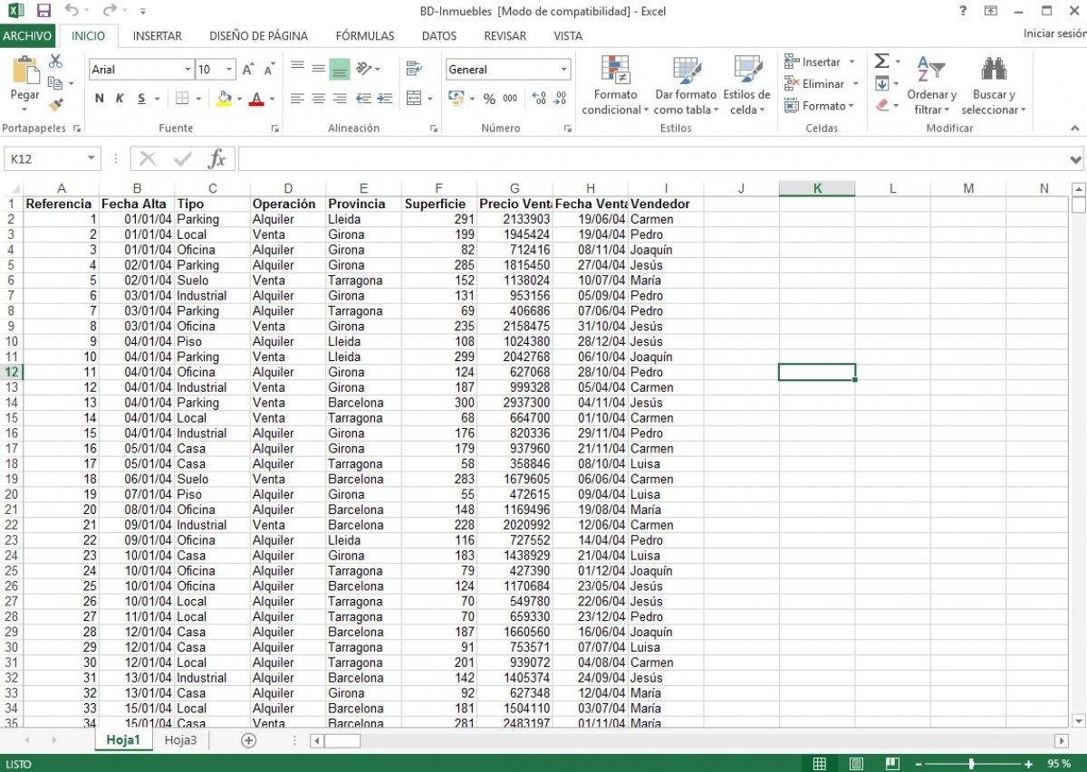 Cómo funciona Excel