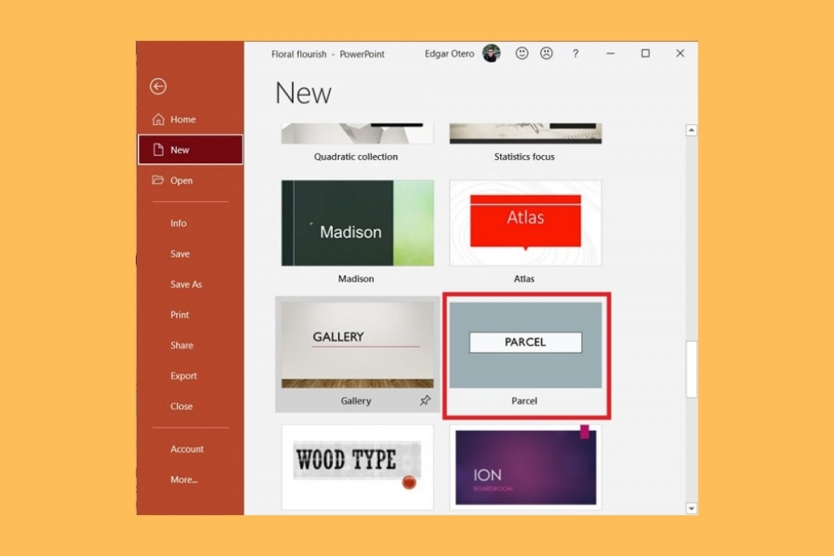 Where are PowerPoint templates saved