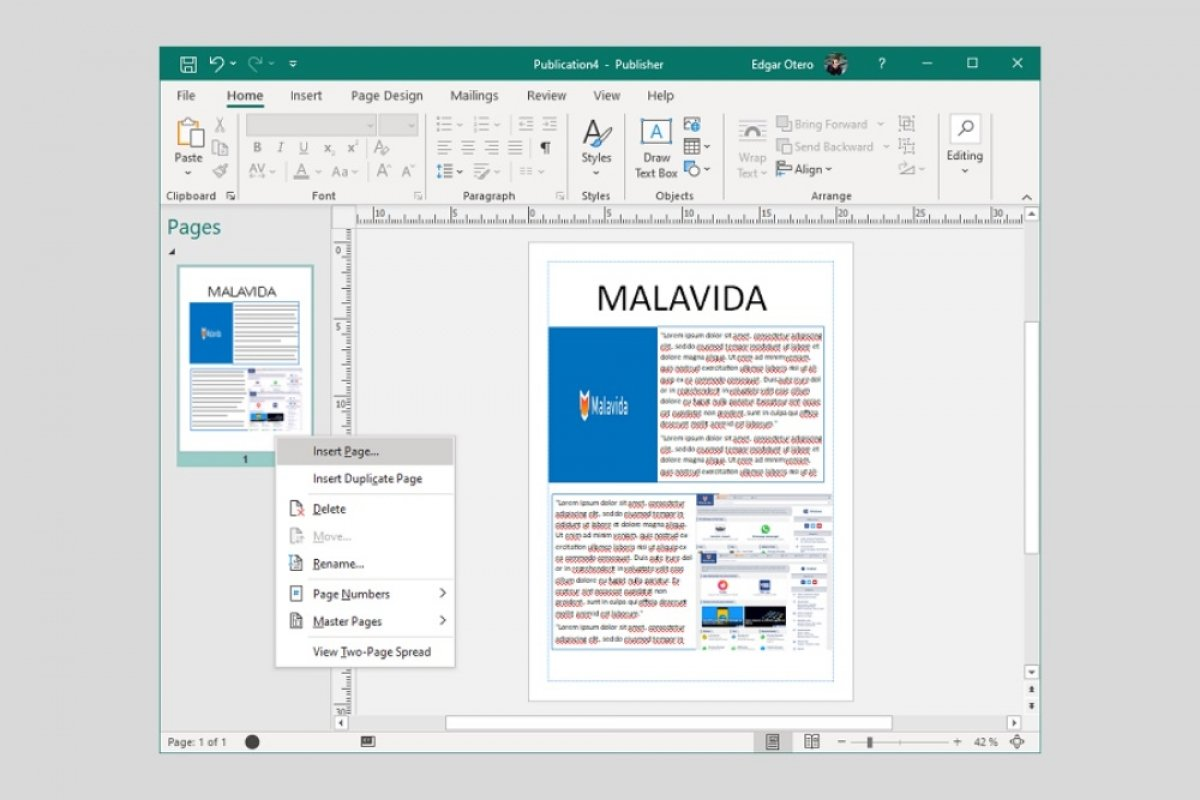 How to make a magazine in Microsoft Publisher