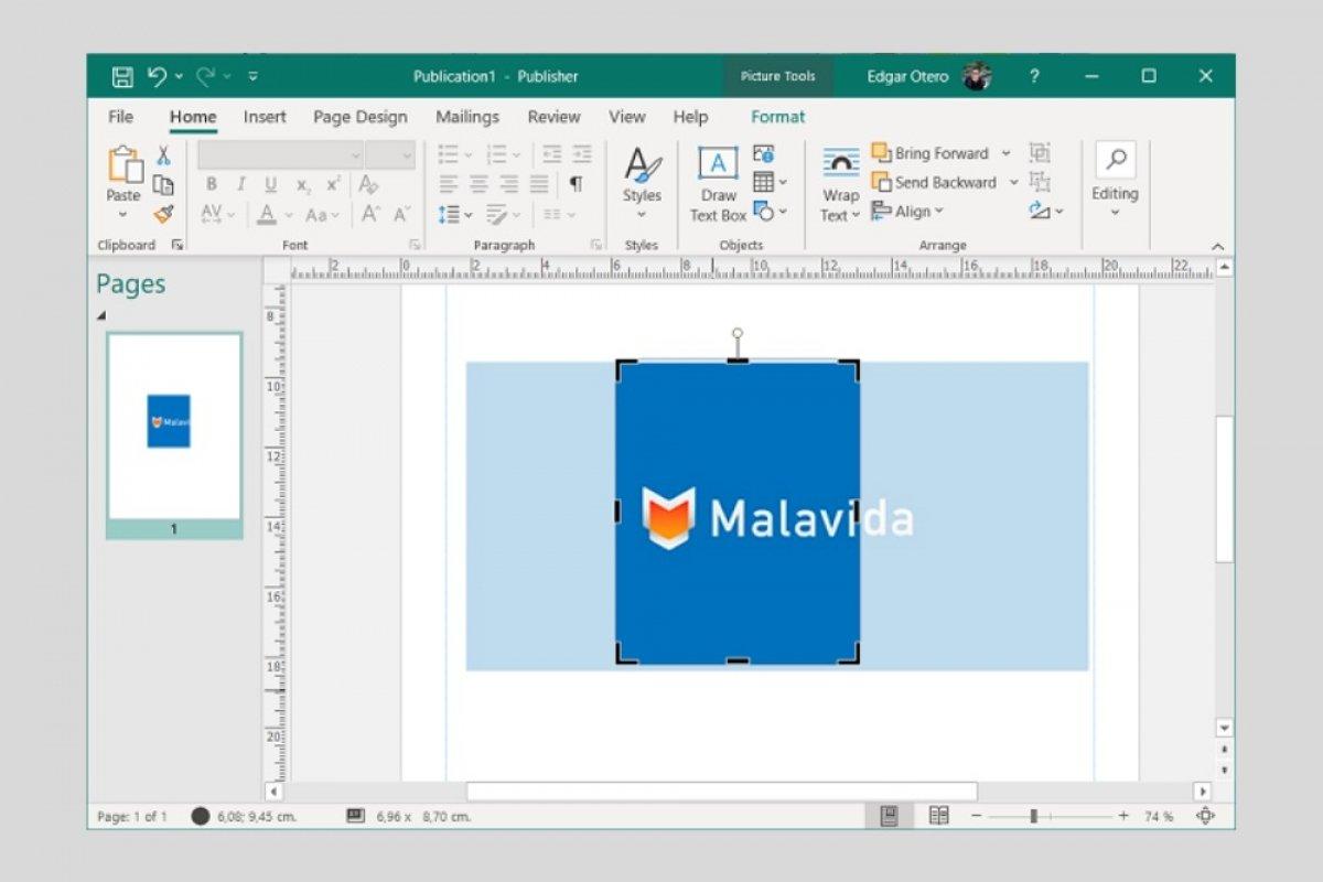 Cómo recortar una imagen en Microsoft Publisher