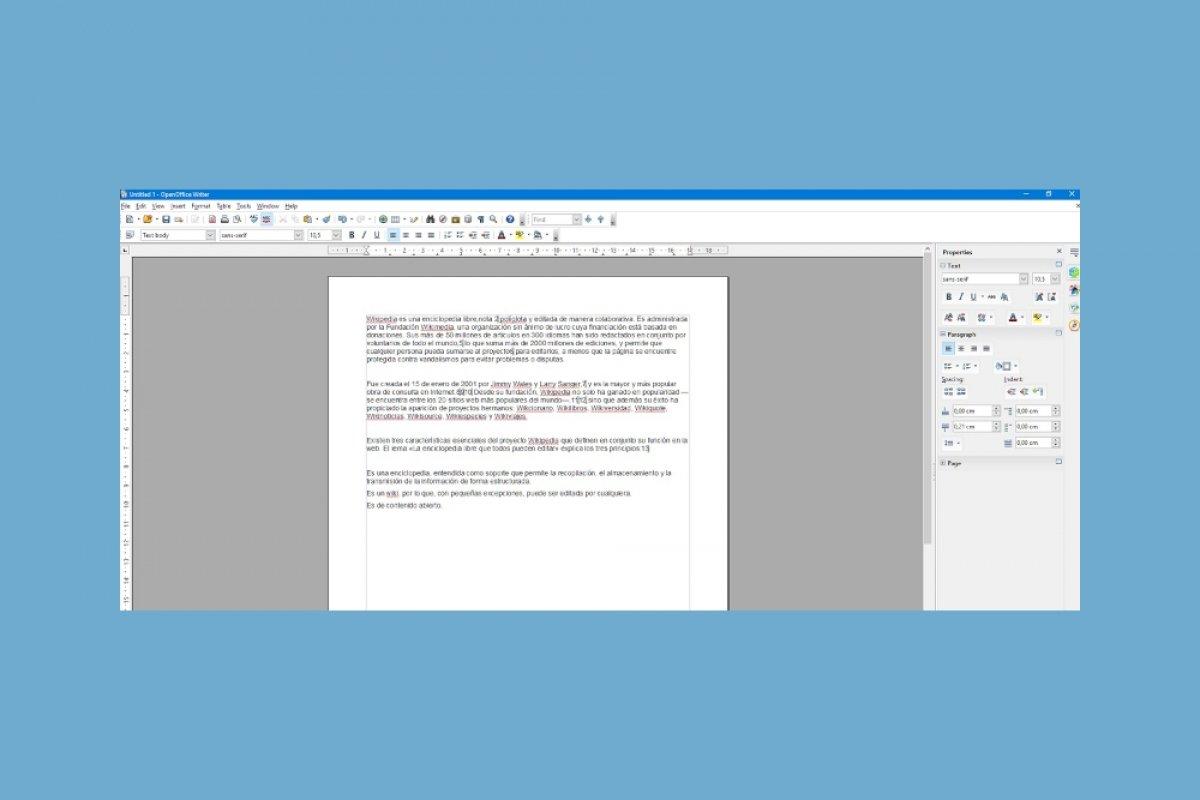 Qué es OpenOffice Writer