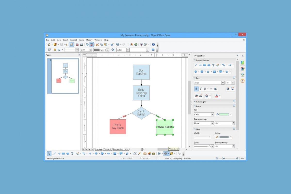 Qué es OpenOffice Draw
