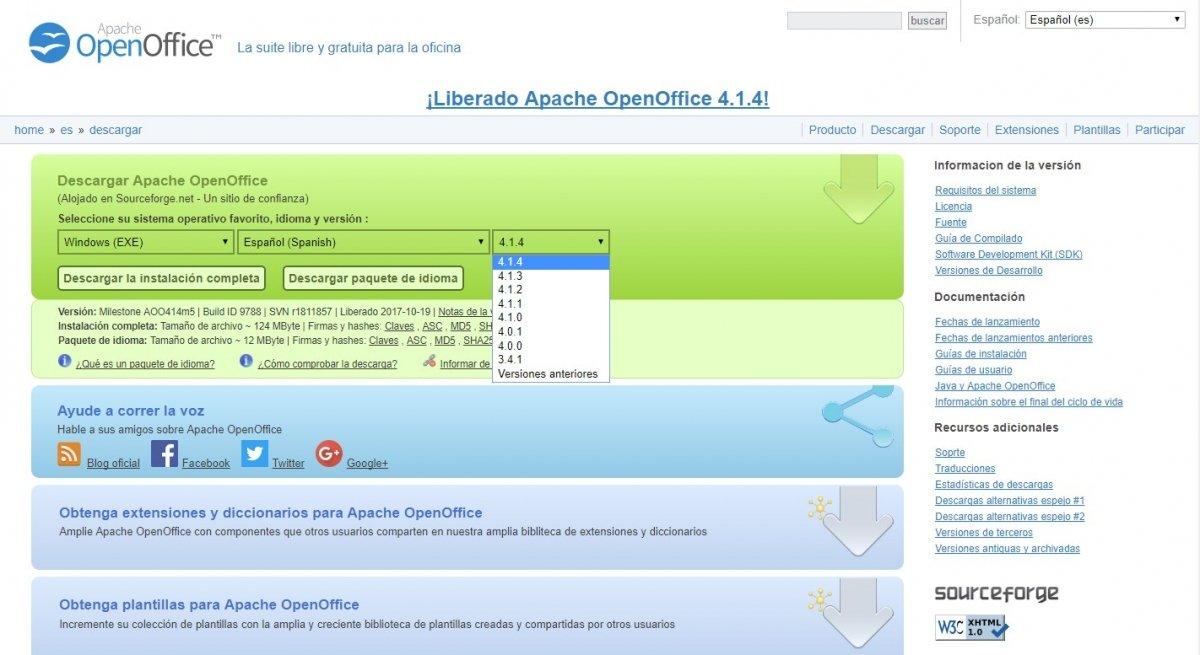Cómo descargar OpenOffice