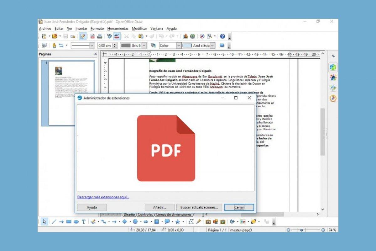 Cómo abrir y editar ficheros PDF con OpenOffice