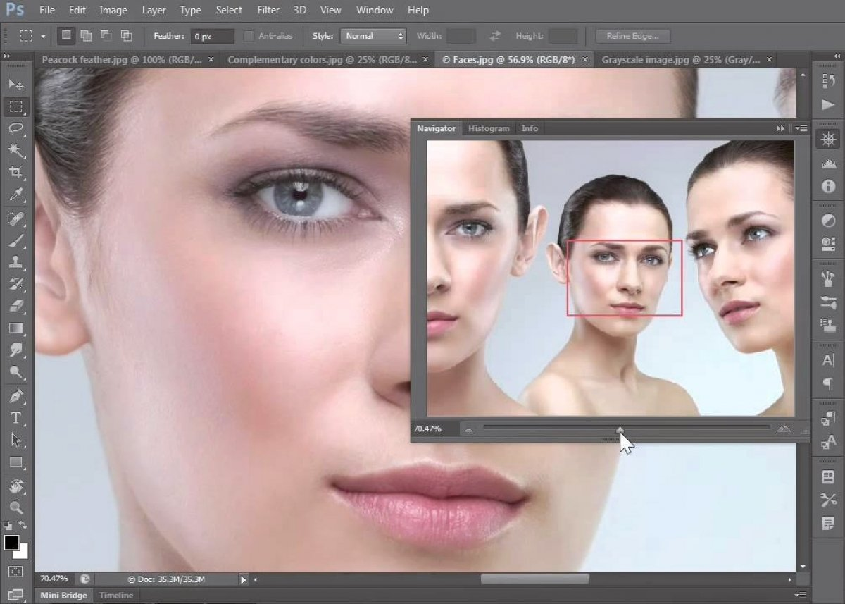 How to change the eye color in Photoshop