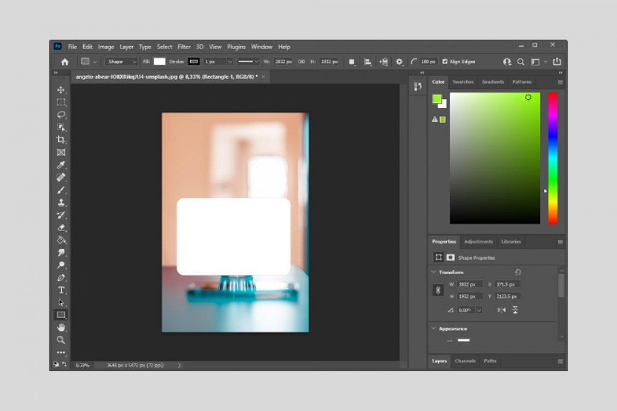 Cómo hacer bordes redondeados con Photoshop