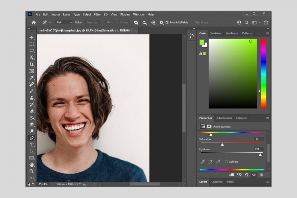 Cómo blanquear los dientes con Photoshop