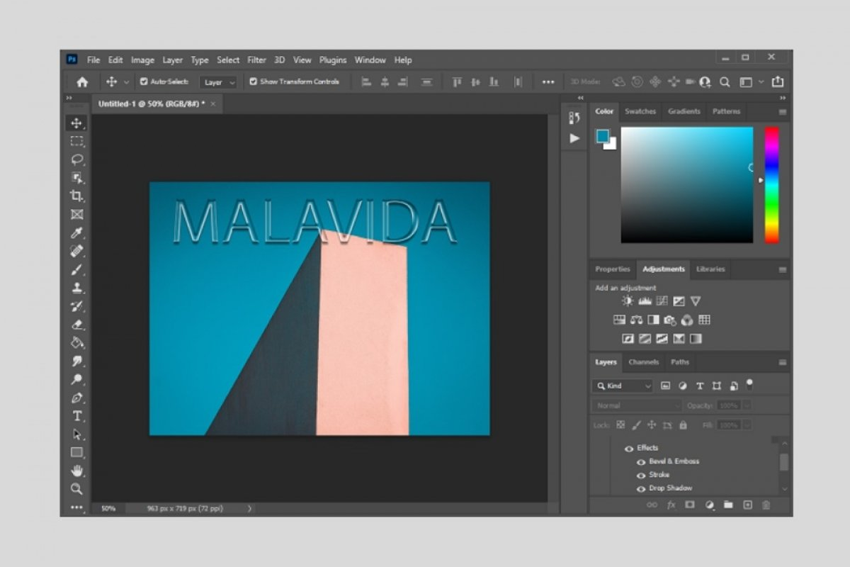 How to create text with glass effect in Photoshop