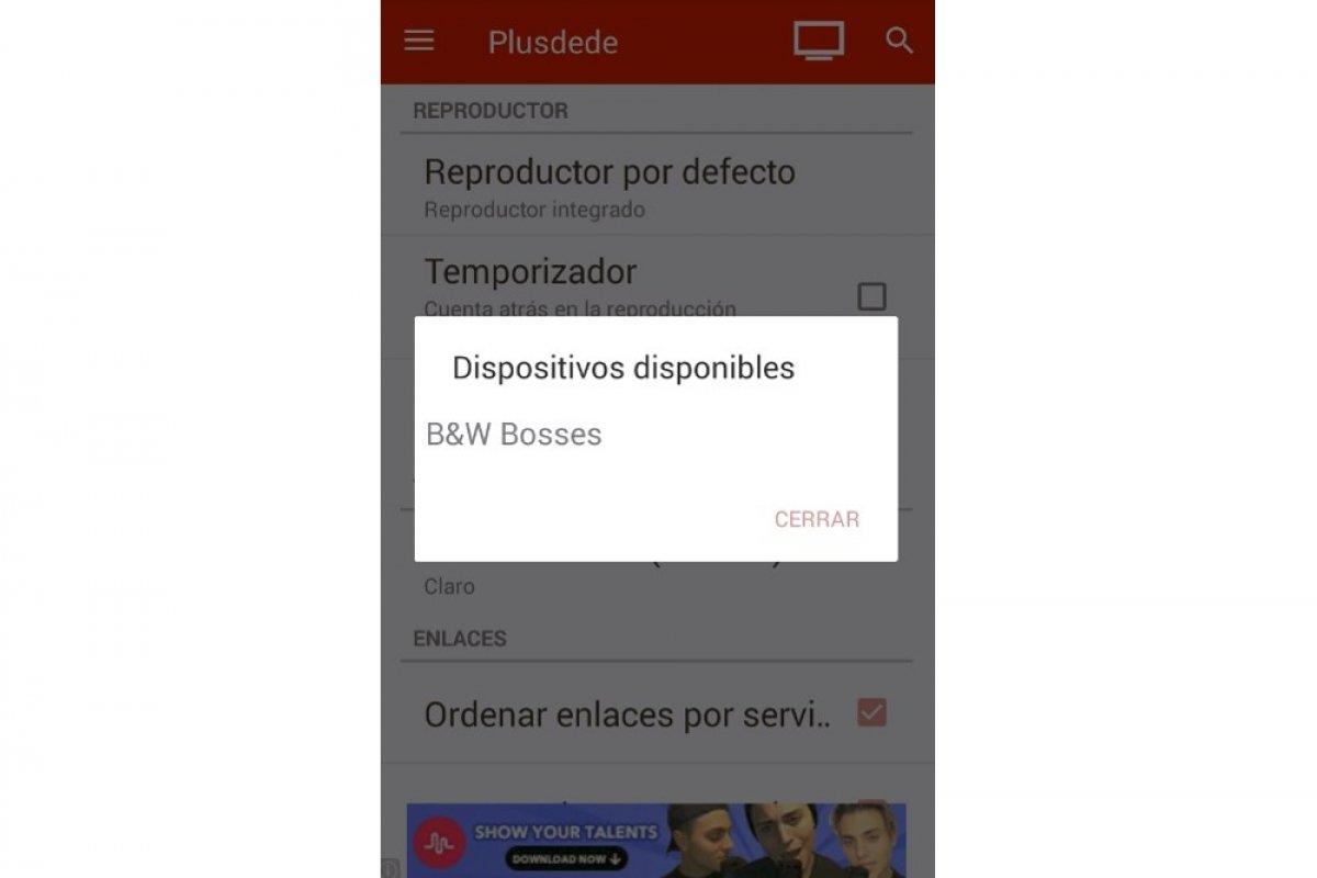 Cómo enviar contenido de Plusdede a una SmartTV
