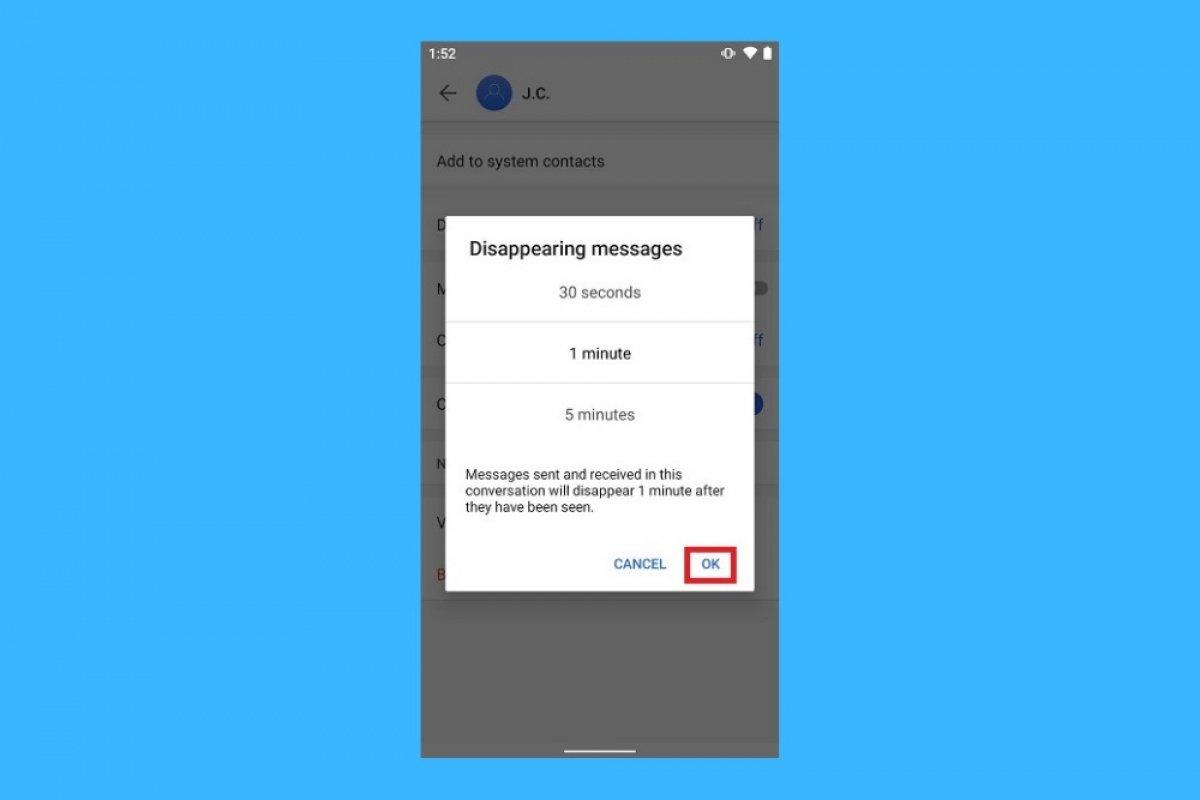 Comment activer l'autodestruction des messages dans Signal