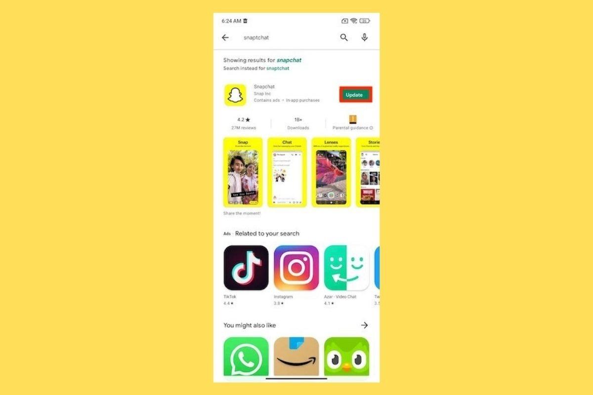 Cómo actualizar Snapchat a la última versión