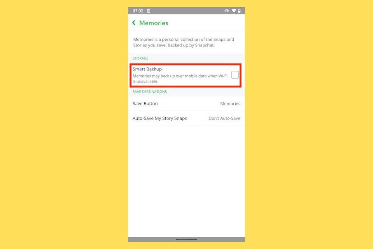 Cómo hacer copias de seguridad de fotos y vídeos en Snapchat