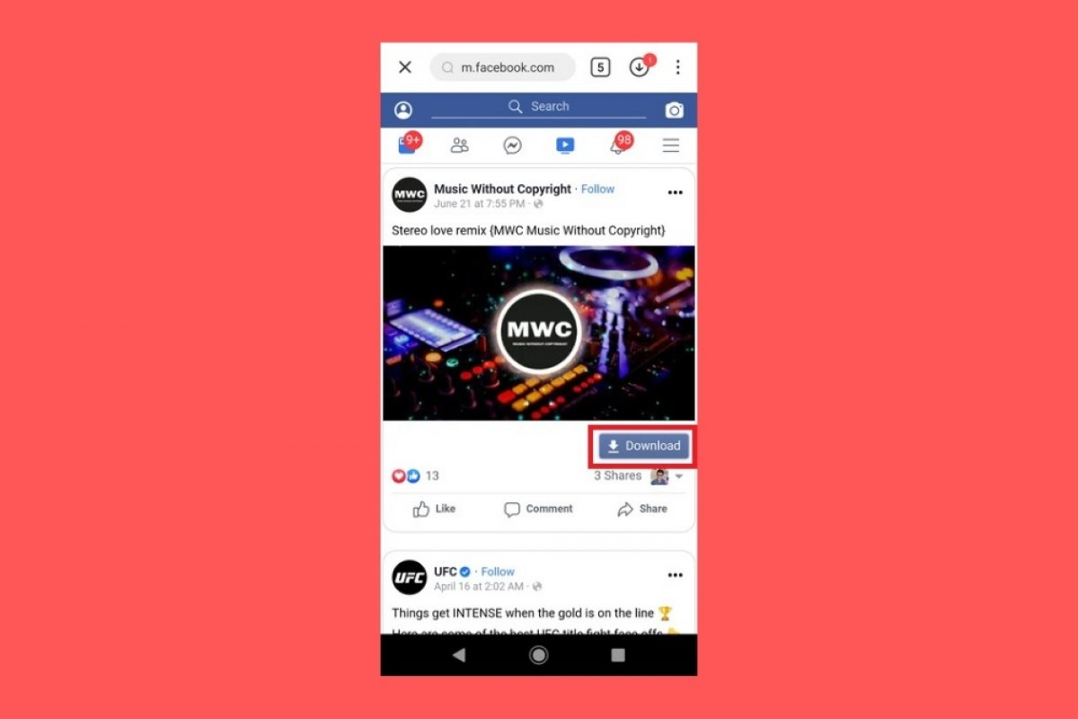 How to download videos from Facebook with SnapTube