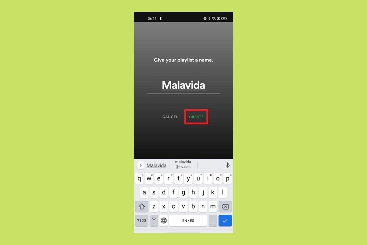 Cómo crear una playlist y añadir canciones en Spotify
