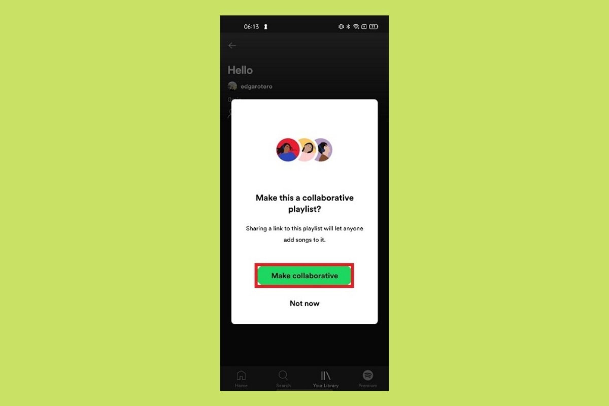 Cómo crear una playlist colaborativa en Spotify