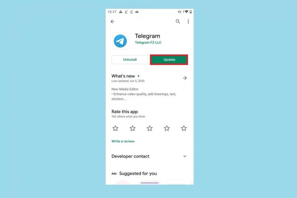 Cómo actualizar Telegram