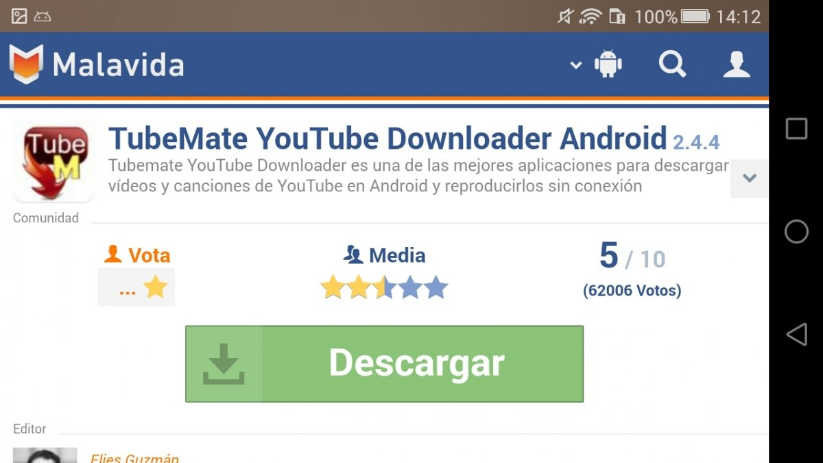 Cómo descargar TubeMate YouTube Downloader