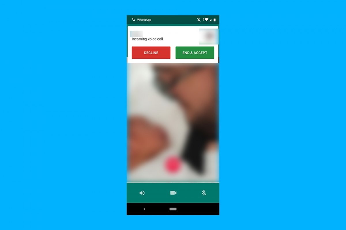 WhatsAppで通話を保留に出来る方法