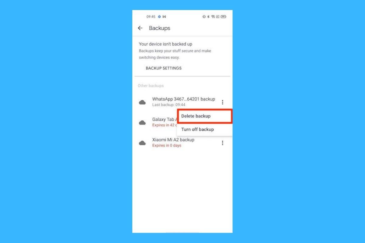 Come eliminare i backup di WhatsApp su Android